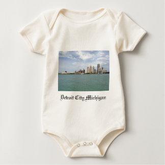 Cidade Michigan de Detroit Macacãozinho Para Bebê