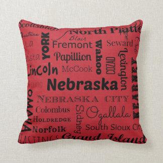 Cidades de Nebraska travesseiro decorativo Almofada