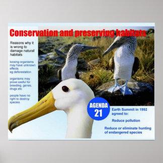 Ciência, conservação animal e preservação pôsteres