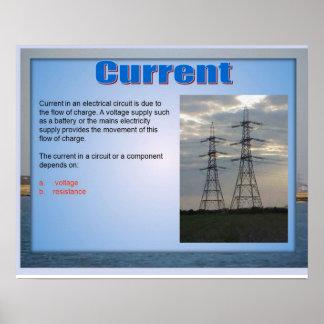 Ciência, corrente da eletricidade poster