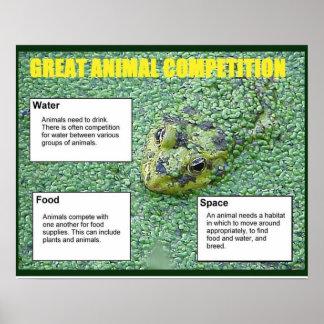 Ciência da vida, grande competição animal posteres