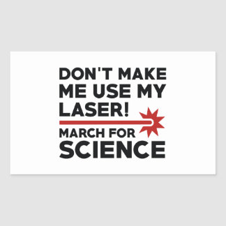 Ciência março do laser adesivo retangular