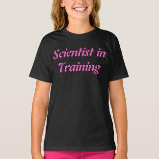 Cientista no Tshirt da ciência das crianças do