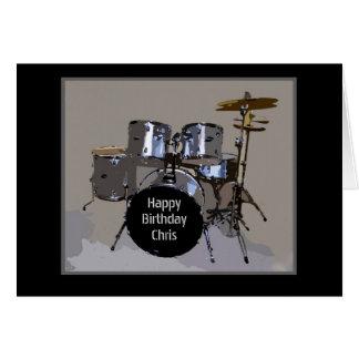 Cilindros do feliz aniversario de Chris Cartão Comemorativo