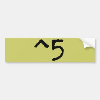 Cinco ^5 altos adesivo para carro