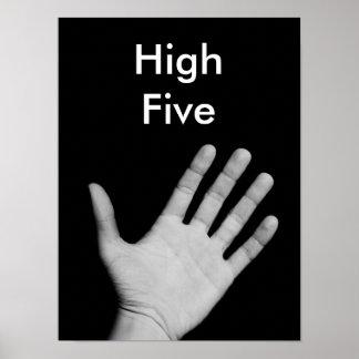 Cinco altos poster cómico