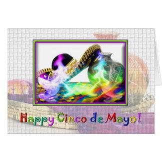 Cinco-de Mayo - cumprimento festivo Cartão Comemorativo