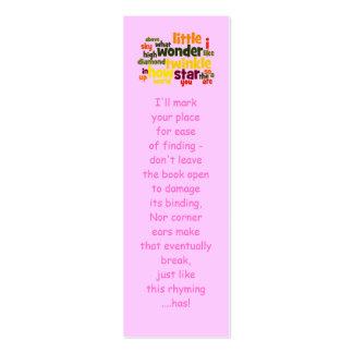Cintilação, cintilação pouco marcador da estrela… cartão de visita skinny