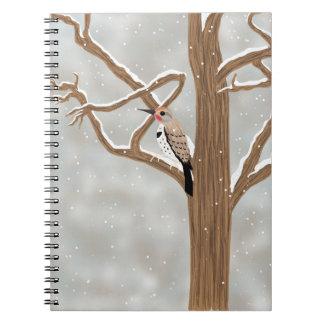 Cintilação no caderno da árvore