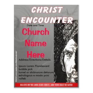 Cinza do insecto do encontro do cristo panfleto personalizados