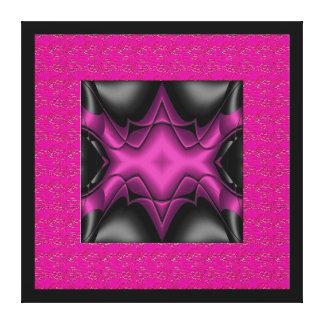 Cinza do preto do rosa da arte abstracta das canva impressão em canvas