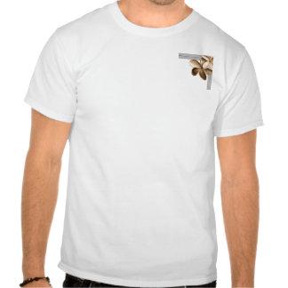 Cinza e Plumeria perolizados do ouro de Champagne Camisetas
