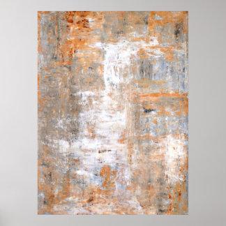 Cinza e poster da pintura da arte abstracta de Bro