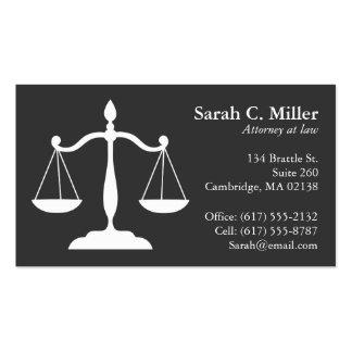 Cinza elegante do cartão de visita | do escritório