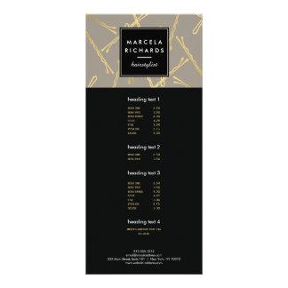 Cinzas chiques do salão de beleza do cabeleireiro 10.16 x 22.86cm panfleto