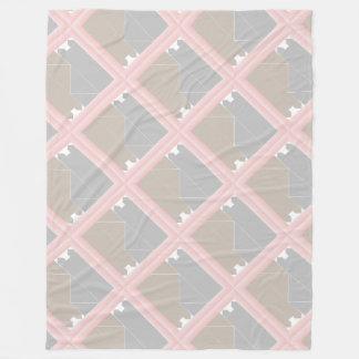 Cinzas da edredão do gato de quartzo cor-de-rosa e cobertor de lã