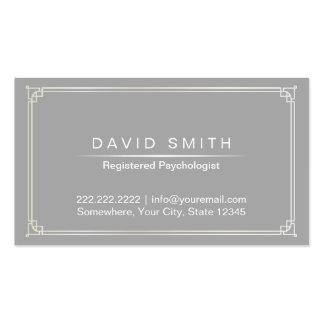 Cinzas da planície do cartão da nomeação do cartão de visita