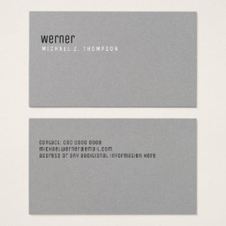cinzas simples elegantes profissionais cartão de visitas