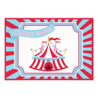 Circo ou barraca do carnaval - obrigado cartões convite personalizados