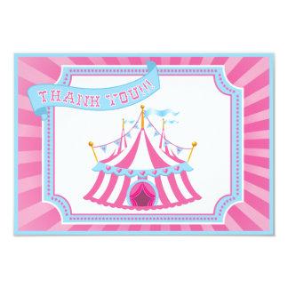 Circo ou carnaval - obrigado cartões convite 8.89 x 12.7cm
