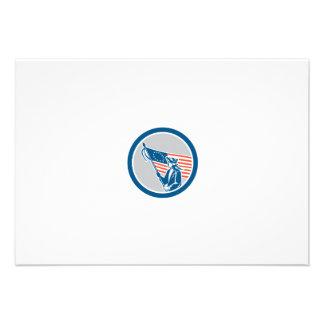 Círculo americano da bandeira do soldado do convite personalizados