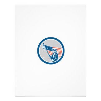 Círculo americano da bandeira do soldado do convites