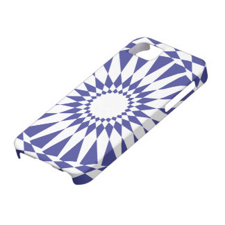 Círculo azul da mandala capa barely there para iPhone 5