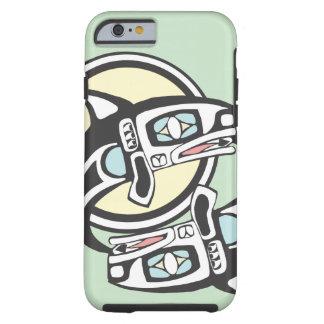 Círculo da baleia de assassino capa tough para iPhone 6