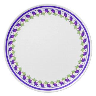 Círculo da corriola - fotografia floral cortada prato de festa