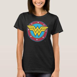 Círculo da mulher maravilha | & logotipo das camiseta