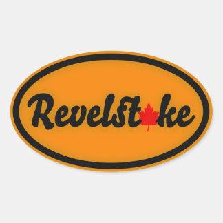 Círculo do bordo de Revelstoke Adesivo Oval