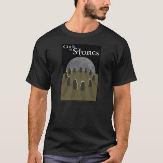 Círculo do t-shirt das pedras