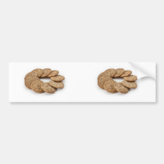 Círculo dos biscoitos em um fundo branco adesivo para carro