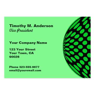 Círculo preto verde-claro da modificação das cartão de visita grande