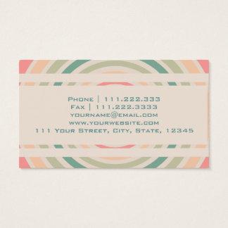 Círculo retro cartão de visitas