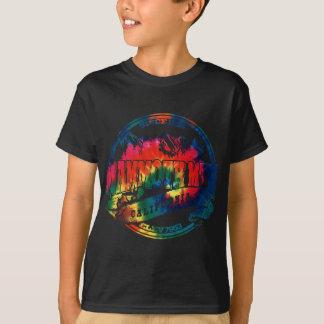 Círculo velho gigantesco TieDye de Mtn Camiseta