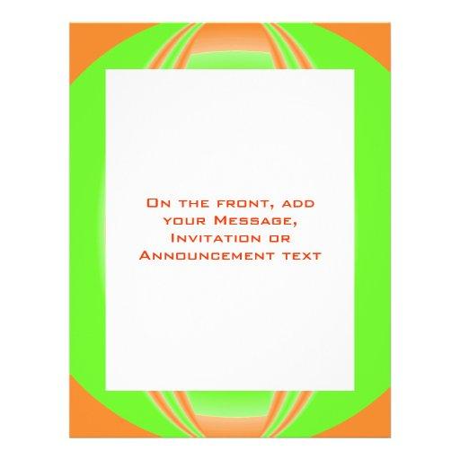 círculo verde alaranjado panfleto personalizado