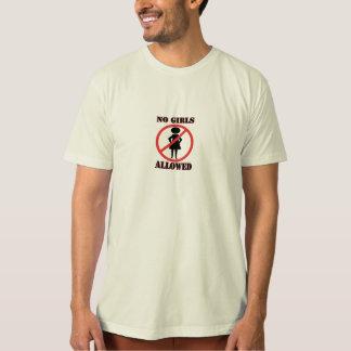Círculo vermelho com uma linha diagonal através camiseta
