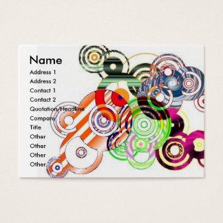 Círculos abstratos cartão de visitas