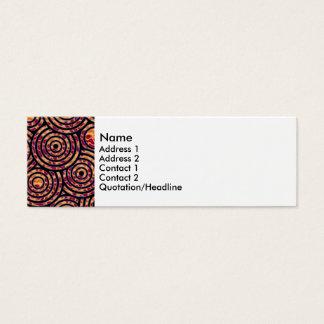 Círculos abstratos cartão de visitas mini