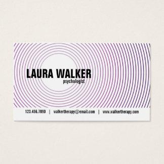Círculos da hipnose - roxo cartão de visitas