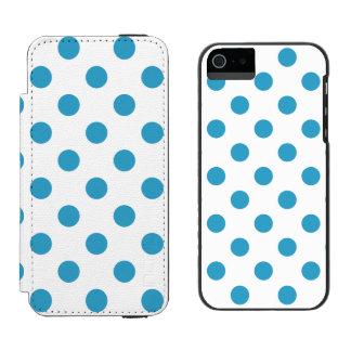Círculos das bolinhas do azul de pavão capa carteira incipio watson™ para iPhone 5