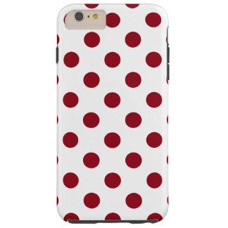 Círculos das bolinhas do vermelho carmesim capas iPhone 6 plus tough
