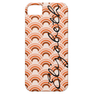 Círculos dentro do caso do iPhone 5/5S do teste Capa Barely There Para iPhone 5
