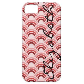Círculos dentro do caso do iPhone 5/5S do teste Capa Para iPhone 5
