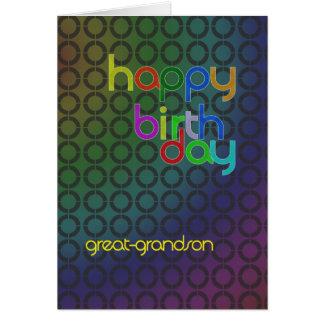 Círculos do aniversário para o excelente - neto cartão comemorativo