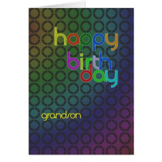 Círculos do aniversário para o neto cartão comemorativo
