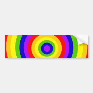 Círculos do arco-íris por JanLynn Adesivo Para Carro