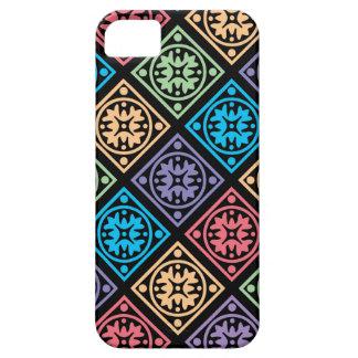 Círculos e capa de telefone abstratos coloridos