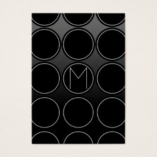 Círculos e monograma pretos cartão de visitas